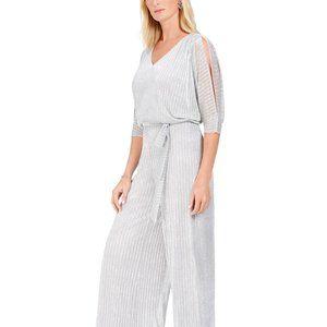 MSK Embellished Blouson Jumpsuit Silver Size 10